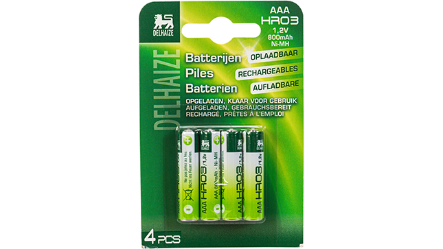 Oplaadbare batterijen AAA 800 mAh