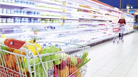 verleiding in de supermarkt