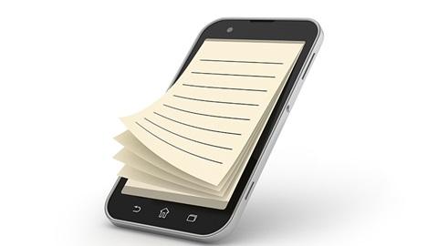 smartphone blocnote