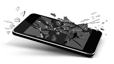 Herstelling van een gebroken scherm smartphone
