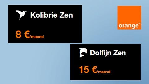 Orange Zen Kolibrie + Orange Zen Dolfijn