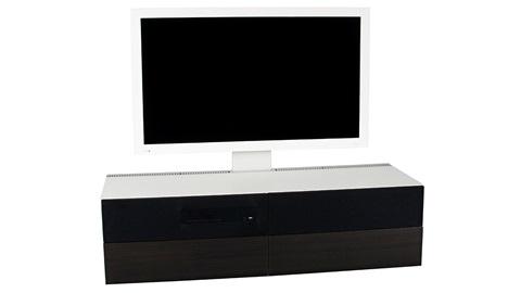 Ikea-meubel met geïntegreerde tv en geluid