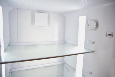 Thermostaatinstelling in een koelkast.