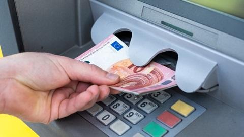 geldautomaat, afhaling, batopin